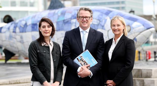 Pictured at the launch of the event: Morgane Campioni Head of Digital at Independent News and Media NI, Paul McErlean, Chair of PRCA Northern Ireland and Liz Young Head of Corporate Communications at the Police Service of Northern Ireland (PSNI).