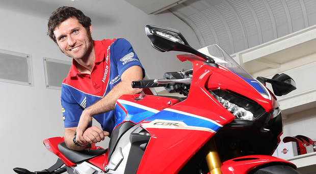 Guy Martin, with his Honda Fireblade.