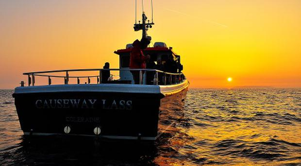 Sail at sunrise to catch your own breakfast in Portrush.