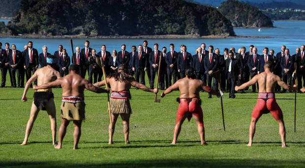 Unique welcome: British and Irish Lions visit the Waitangi Treaty Grounds Bay of Islands in New Zealand