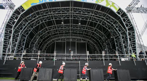 The new site of Belsonic Music Festival at Ormeau Embankment.