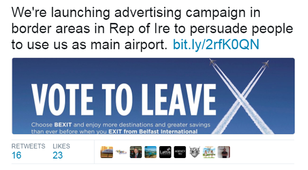 The campaign launch of Belfast International Airport.