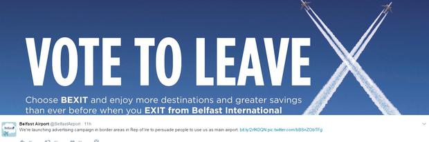 The campaign launch by Belfast International Airport.