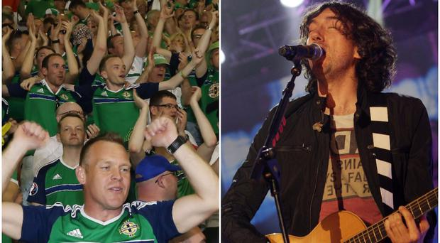 The Northern Ireland fans gave their best Gary Lightbody impressions in Azerbaijan,