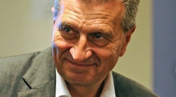 Making improvements: European Commissioner Gunther Oettinger