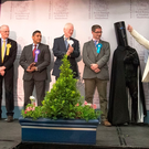 British Prime Minister and Conservative Party leader Theresa May (far left) stands with Lord Buckethead and other candidates at the declaration at the election count at the Magnet Leisure Centre on June 9, 2017 in Maidenhead, England. (Photo by Matt Cardy/Getty Images)