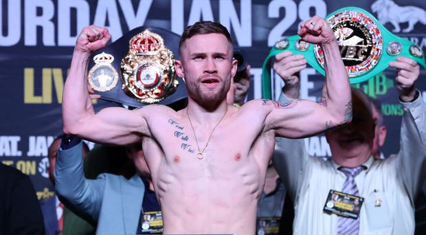He hasn't got these belts anymore but Carl Frampton is due to get back in the ring in Belfast on July 29.