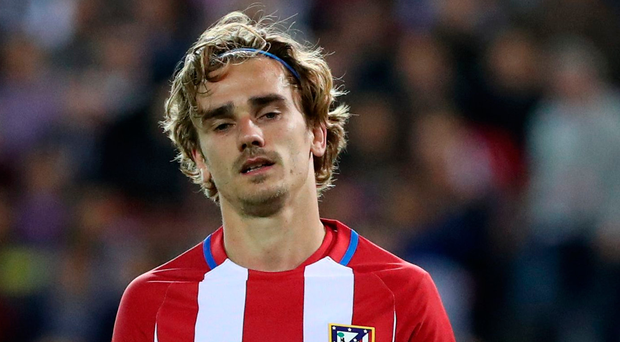 Grounded: Antoine Griezmann is staying with Atletico Madrid. Photo: Cesar Manso/Getty Images