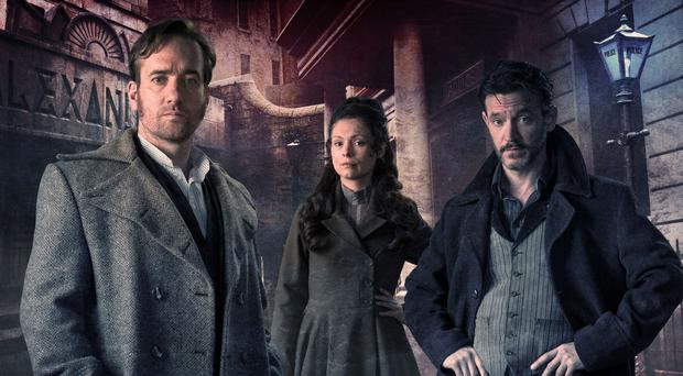 Deadly serious: Matthew Macfadyen, MyAnna Buring and Adam Rothenberg