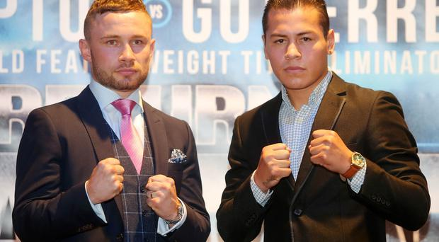 Carl Frampton to fight Andrés Gutiérrez at the SSE Arena in Belfast