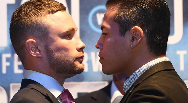 Belfast boxer Carl Frampton and Andres Gutierrez were at the Europa Hotel in Belfast to announce a WBC World title eliminator at the SSE arena in Belfast on July 29.