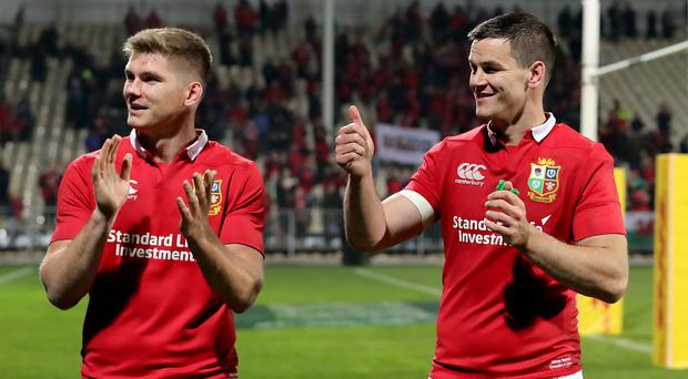 Numbers game: Owen Farrell and Jonathan Sexton give Gatland a selection headache. Photo: Dan Sheridan/INPHO