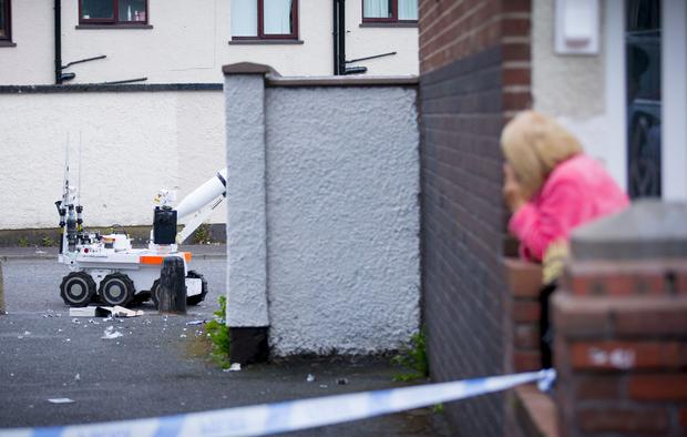 Police and ATO at the scene of a security alert in the Horn Drive area of west Belfast yards from the Woodburn Police Station on June 15th 2017 (Photo by Kevin Scott / Belfast Telegraph)