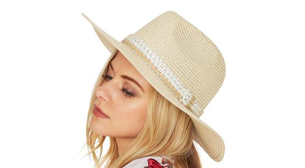 Metallic trim fedora from F&F at Tesco.