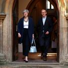 Faith matters: Prime Minister Theresa May and her husband Philip leave church last weekend
