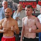 Fighting fit: Paddy Barnes takes on Silvio Olteanu at the Waterfront Hall