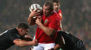 Jack McGrath scramble for the ball during the Lions tour match against the Maori All Blacks at the Rotorua International Stadium, New Zealand. (Photo: David Rogers/Getty Images