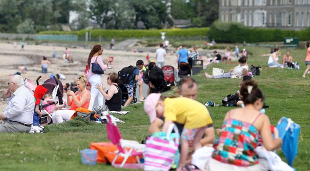 People taking advantage of the good weather at Seamark in Co. Down. Picture by Jonathan Porter/PressEye.com