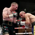 Tough night: Paddy Barnes was taken the full 10 rounds by Romanian Silvio Olteanu before winning a majority points decision. Photo: William Cherry/Presseye