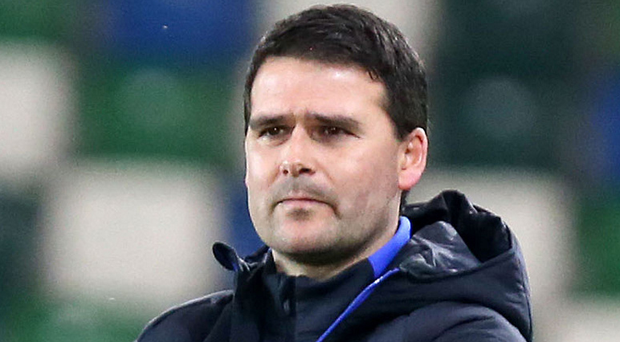 Qualifier: Linfield manager David Healy. Photo: Jonathan Porter/Press Eye