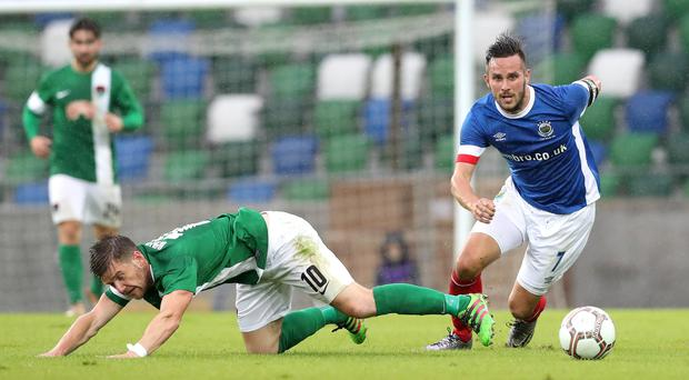 Linfield will play Celtic if they see off San Marino champions