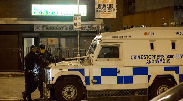 The scene in Ardoyne of an overnight armed robbery on June 19th 2017 (Photo by Kevin Scott / Belfast Telegraph)