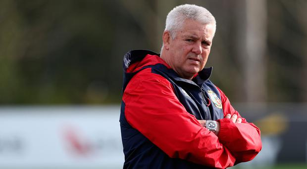 Under fire: Warren Gatland has been accused of devaluing the Lions shirt after calling in players from Wales and Scotland who were in close proximity to New Zealand