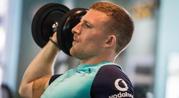 Hard at work: Andrew Conway is giving Ireland duty his all