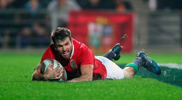What about that then? British and Irish Lions' Jared Payne touches down his Try against the Waikato Chiefs.