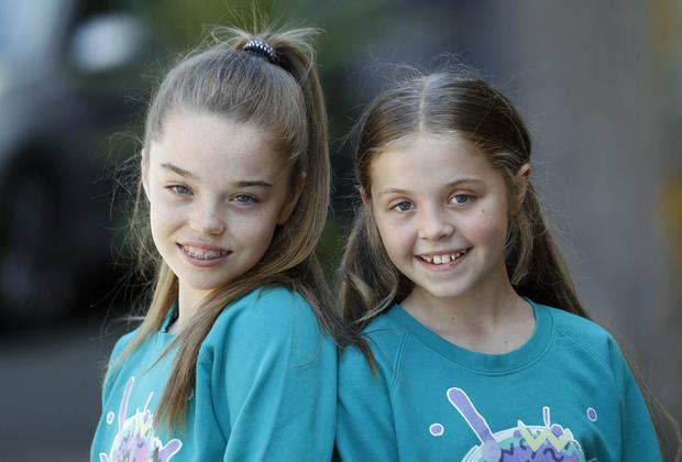 Belfast dancers Holly Sullivan, left, and Meghan Sewell, right, who will be dancing on stage at the Justin Bieber concert in Dublin. Pic by Peter Morrison