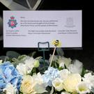 BURY, ENGLAND - JUNE 20: Flowers from the Mayors and Chief Constable of Manchester for terroir attack victim Olivia Campbell-Hardy at The Parish Church of St Anne, in Tottington after her funeral service on June 20, 2017 in Bury, England. Olivia Campbell-Hardy was one of 22 people killed in the Manchester Arena Terror attack last month. The 15-year-old attended the Ariana Grande concert with her friend Adam Lawler, who was badly injured in the blast. (Photo by Christopher Furlong/Getty Images)