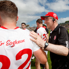 Last laugh: Mickey Harte confounded the pundits by masterminding a comprehensive victory