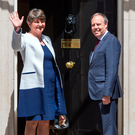 DUP leader Arlene Foster and party deputy leader Nigel Dodds at Downing Street
