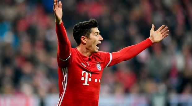 Bayern Munich's Robert Lewandowski is a reported target for Chelsea and Manchester United.