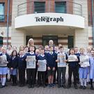 Crawfordsburn Primary visit the Belfast Telegraph on June 21st 2017 (Photo by Kevin Scott / Belfast Telegraph)