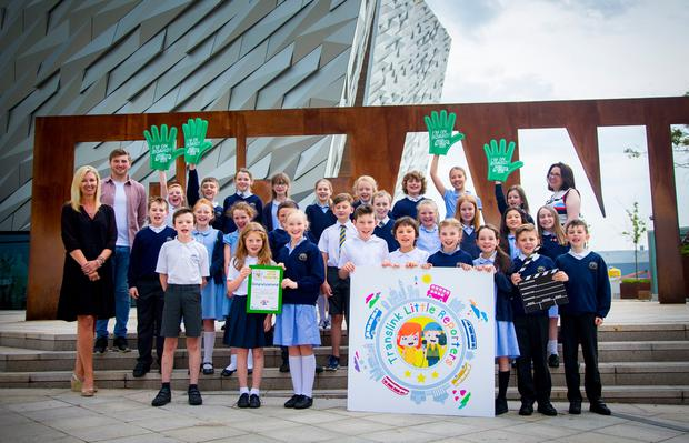 Crawfordsburn Primary visit Titanic Belfast on June 21st 2017 (Photo by Kevin Scott / Belfast Telegraph)