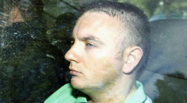 Gavin Coyle pictured in April, 2011 when he appeared at Dungannon Court in relation to the murder of Constable Ronan Kerr. {Photo: Colm O'Reilly/Pacemaker Press Intl 23-04-11