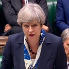 A video grab from footage broadcast by the UK Parliament's Parliamentary Recording Unit (PRU) shows Britain's Prime Minister Theresa May as she speaks in the House of Commons in London on June 21, 2017, following the State Opening Of Parliament. Prime Minister Theresa May, leading a