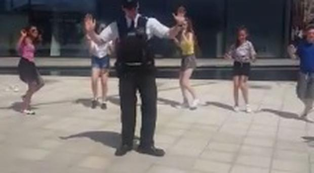 PSNI officer joins in with dance troupe