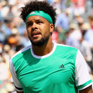 Early exit: Jo-Wilfried Tsonga in surprise defeat
