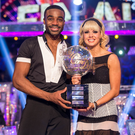 Winners: Joanne with Ore Oduba