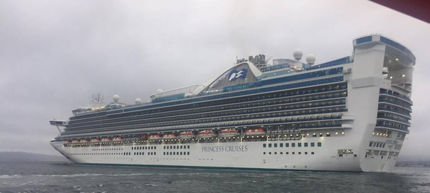 The massive Caribbean Princess visits Belfast on Thursday.