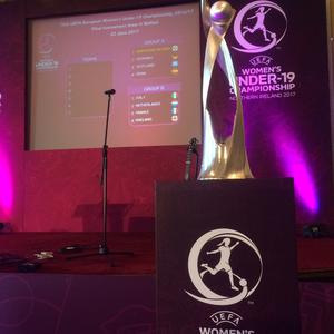 The draw for the group stages of the UEFA Women's Under 19 Championship was held in Belfast City Hall on Thursday.
