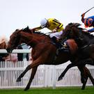 Golden wonder: Big Orange gets the verdict over Order Of St George by a short head