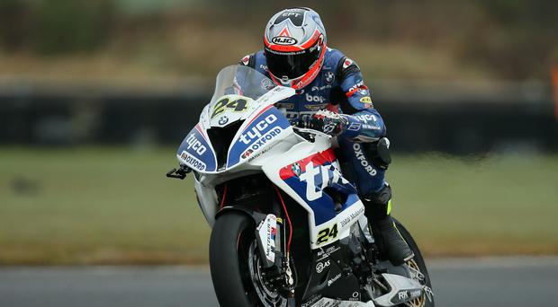 Flat out: Christian Iddon hopes to get the nod for a roads campaign from Tyco BMW Team bosses