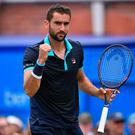 Marching on: Marin Cilic is eyeing the Queen's crown