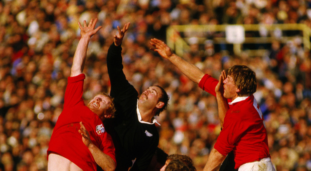 Flashback: Action from the Lions' clash with the All Blacks at Eden Park in 1983