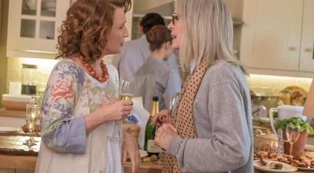 Heath life: Lesley Manville and Diane Keaton in Hampstead