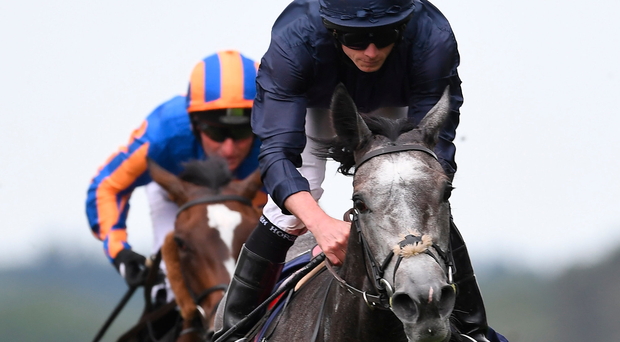 SUPERB: Ryan Moore on Winter captures the Coronation Stakes. Photo: Mike Hewitt/Getty Images