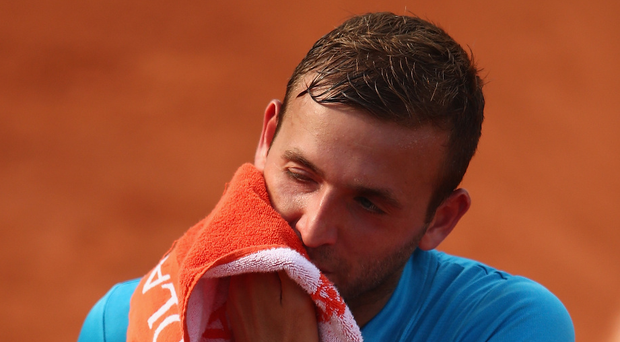 Failed test: Dan Evans is facing a four-year ban after testing positive for cocaine in April. Photo: Clive Brunskill/Getty Images